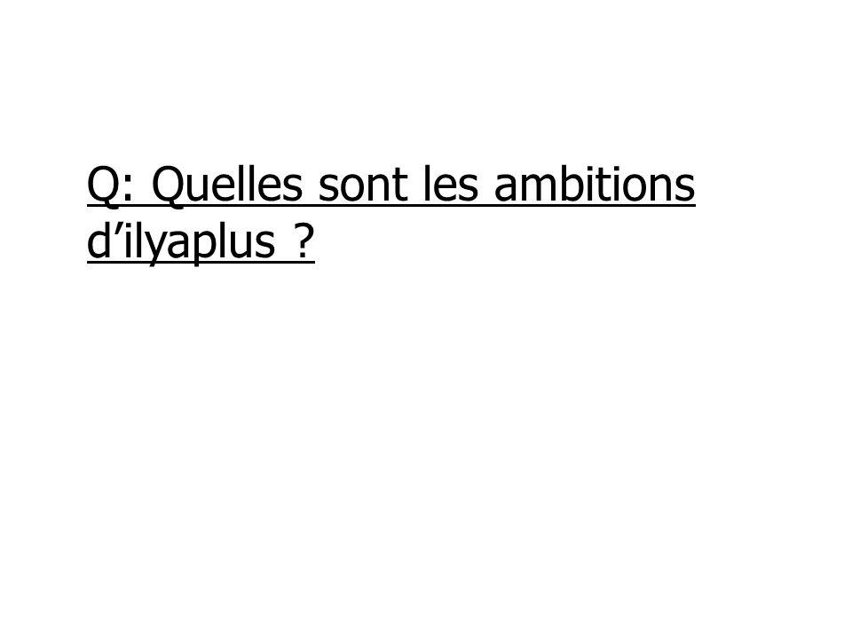 Q: Quelles sont les ambitions dilyaplus ?