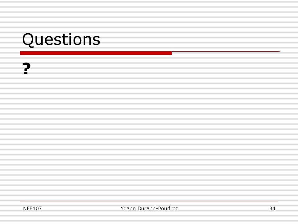 NFE107Yoann Durand-Poudret34 Questions ?