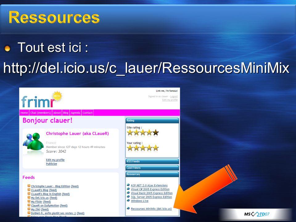 Tout est ici : http://del.icio.us/c_lauer/RessourcesMiniMix