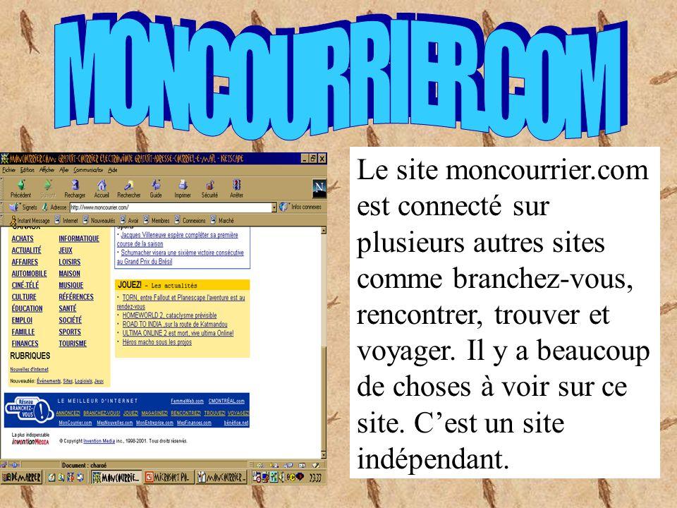 Le site moncourrier.com est un site où nous pouvons nous inscrire gratuitement et si vous voulez vous inscrire vous navez quà appuyer sur le gros bouton rouge.
