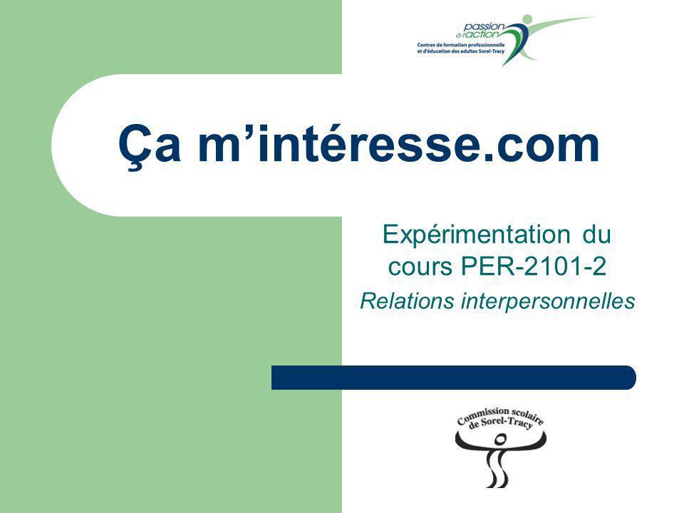 Ça mintéresse.com Expérimentation du cours PER-2101-2 Relations interpersonnelles