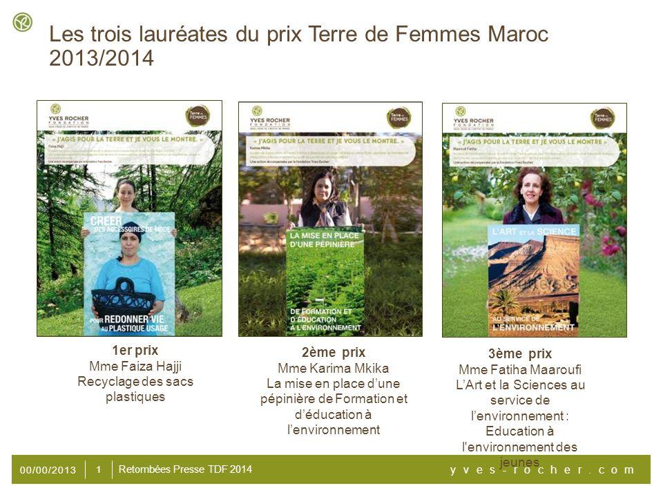 00/00/2013 yves-rocher.com 12 Retombées Presse TDF 2014 http://www.lematin.ma/journal/2014/protection-de-la- nature_l-engagement-des-femmes- recompense/196955.html