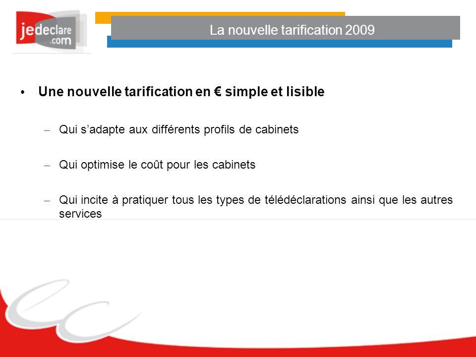 Une nouvelle tarification en simple et lisible – Qui sadapte aux différents profils de cabinets – Qui optimise le coût pour les cabinets – Qui incite