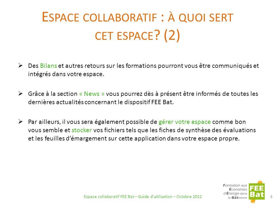 La formation est alors déplacée automatiquement dans longlet « Annulées » : 35 Extranet FEE Bat – Guide dutilisation – Octobre 2012