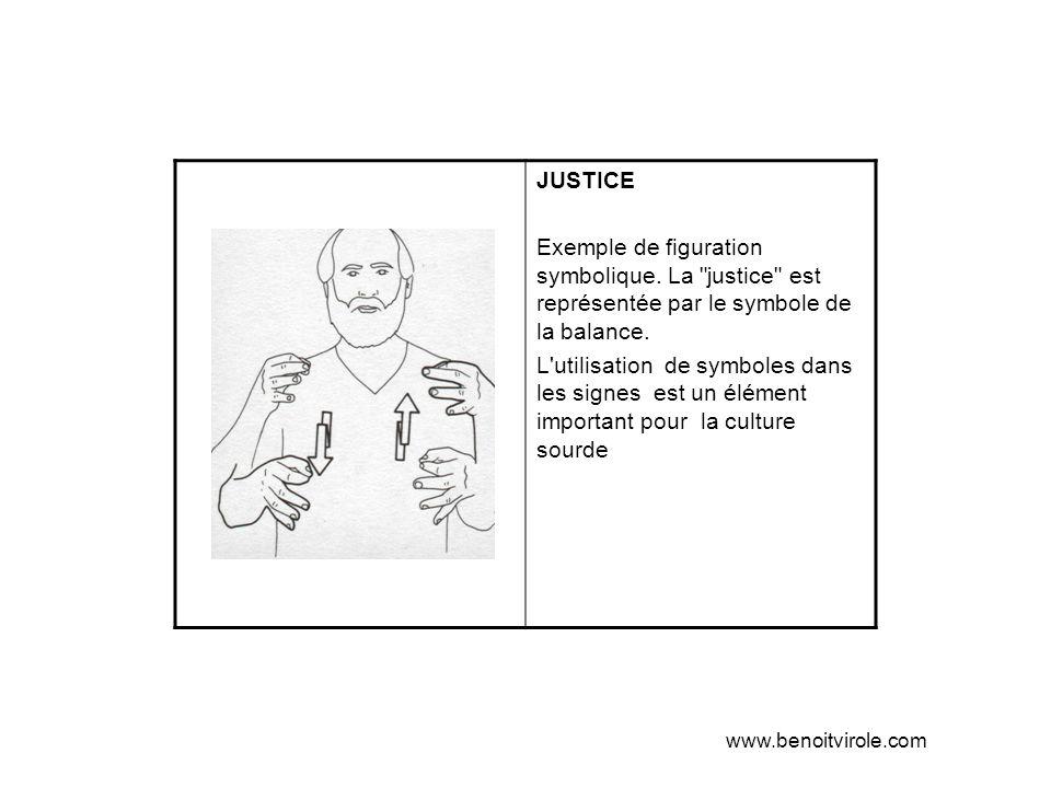 JUSTICE Exemple de figuration symbolique. La