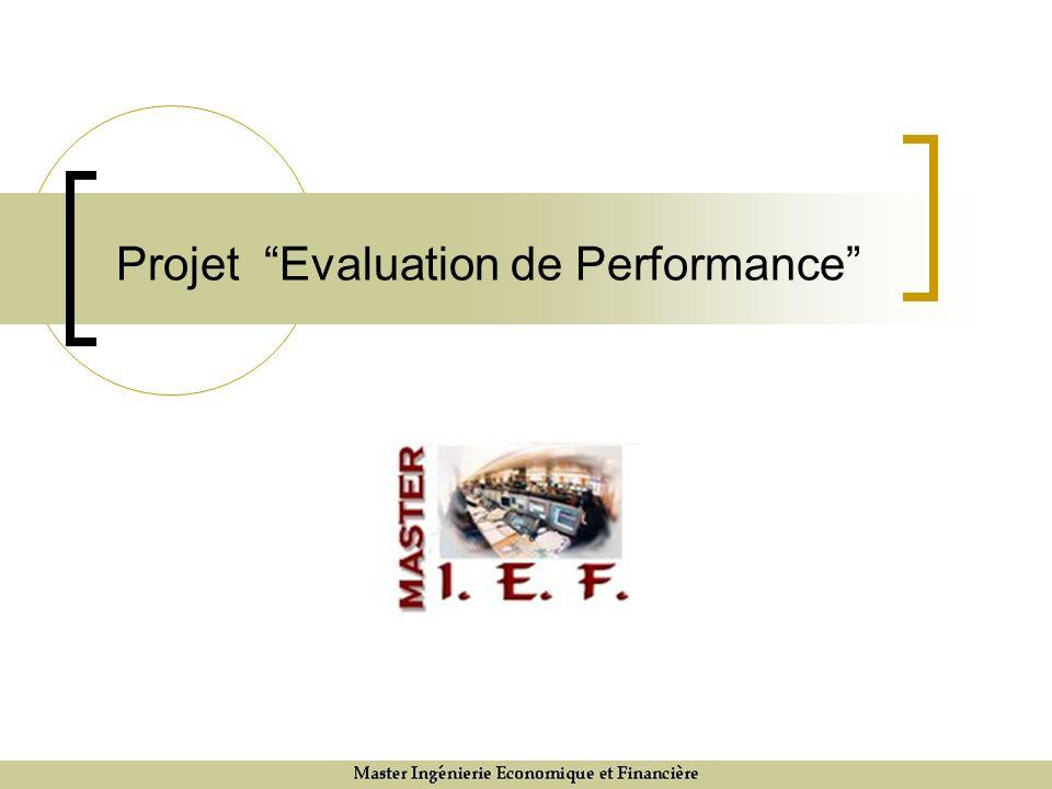 Projet Evaluation de Performance
