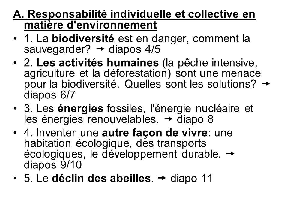 A.Responsabilité individuelle et collective en matière d environnement 1.