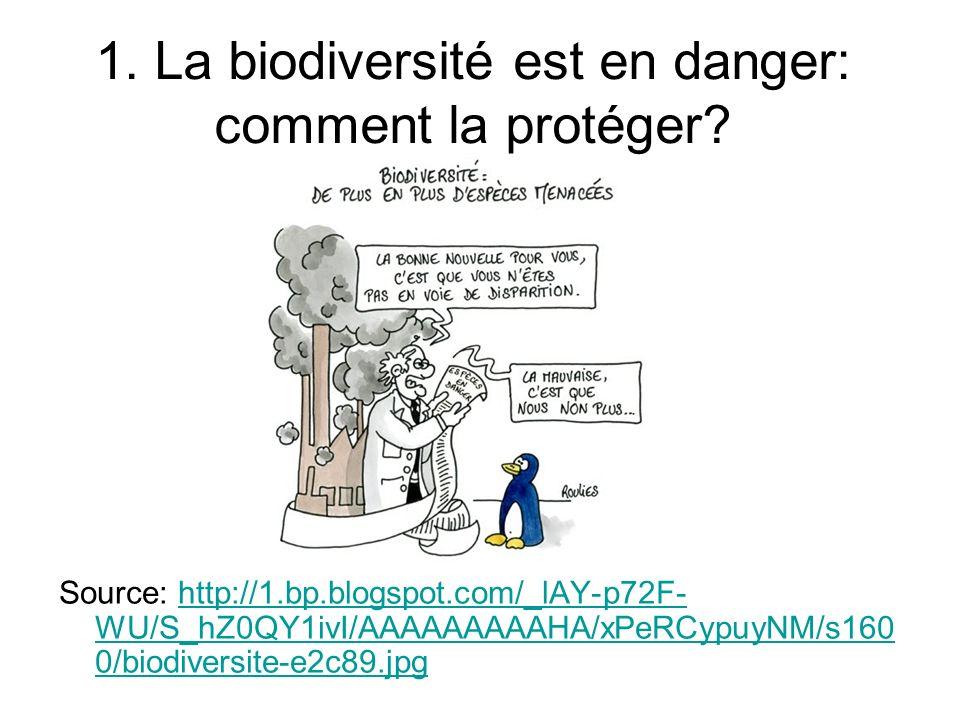 1.La biodiversité est en danger: comment la protéger.