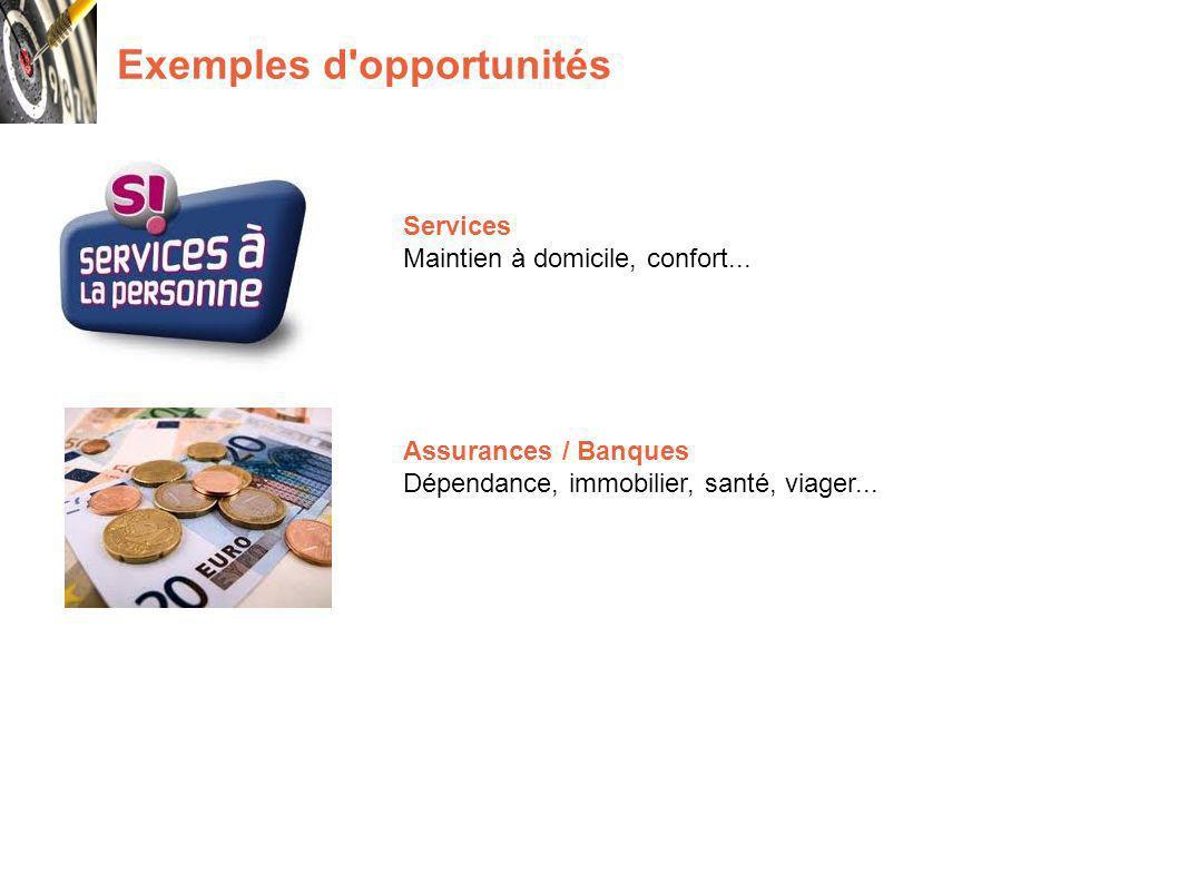 Exemples d opportunités Services Maintien à domicile, confort...