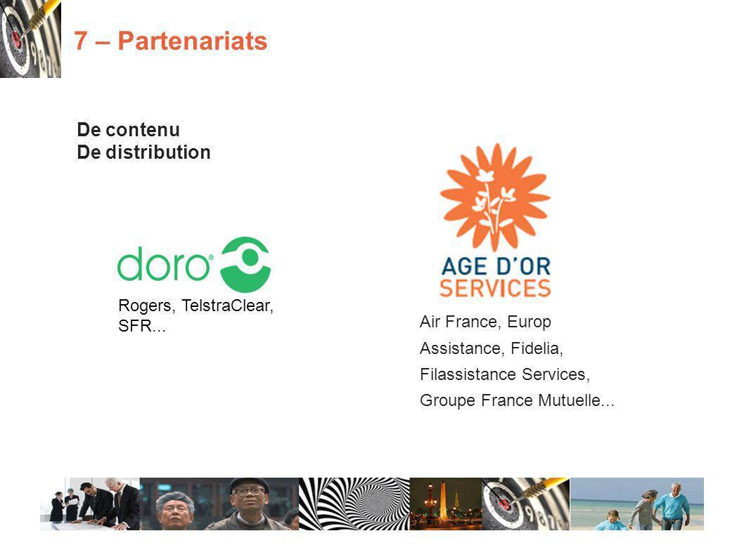 De contenu De distribution 7 – Partenariats Rogers, TelstraClear, SFR...