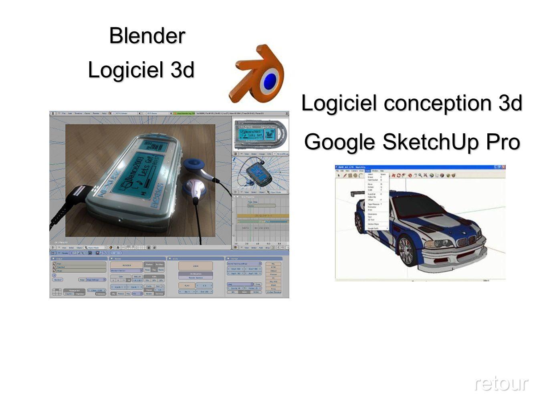 Logiciel 3d Blender retour Logiciel conception 3d Google SketchUp Pro
