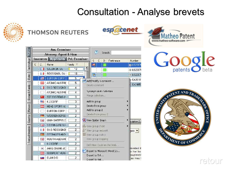 Consultation - Analyse brevets retour