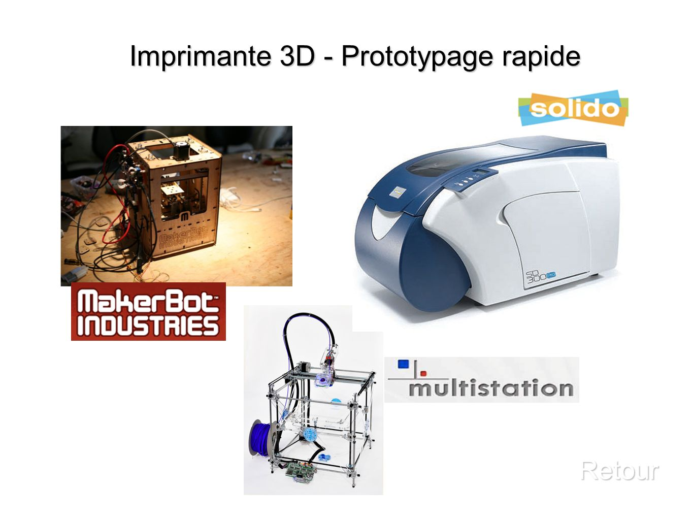 Imprimante 3D - Prototypage rapide Retour