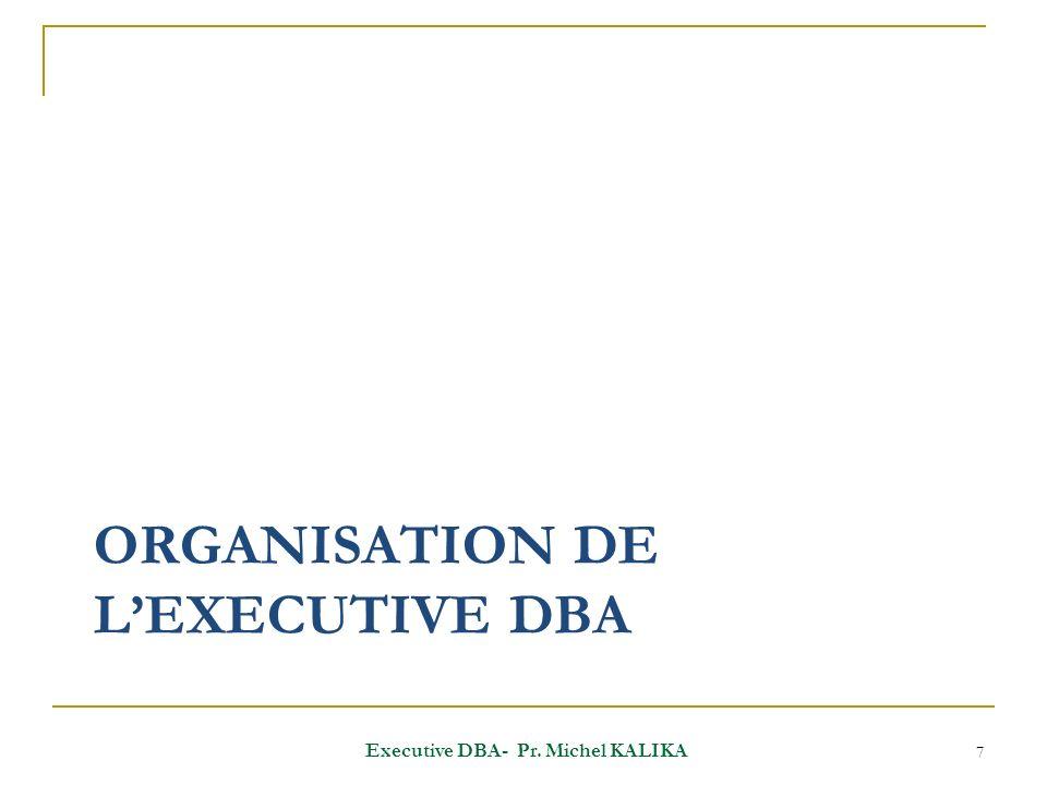 Planning des enseignements Intangible Obligatoire Executive DBA- Pr. Michel KALIKA 8