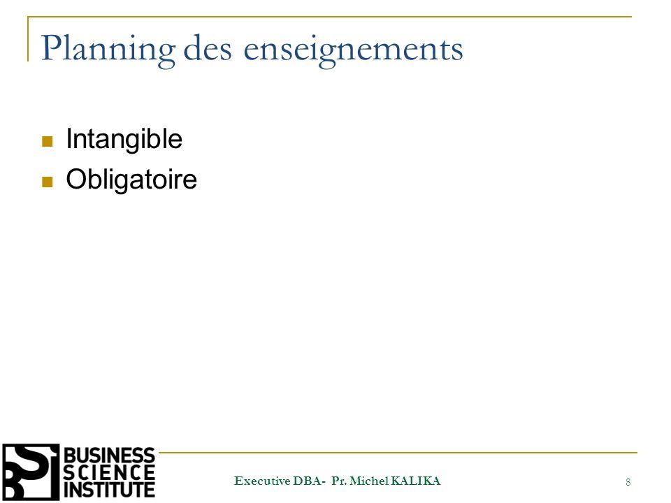 ANIMATION DE LEXECUTIVE DBA 29 Executive DBA- Pr. Michel KALIKA