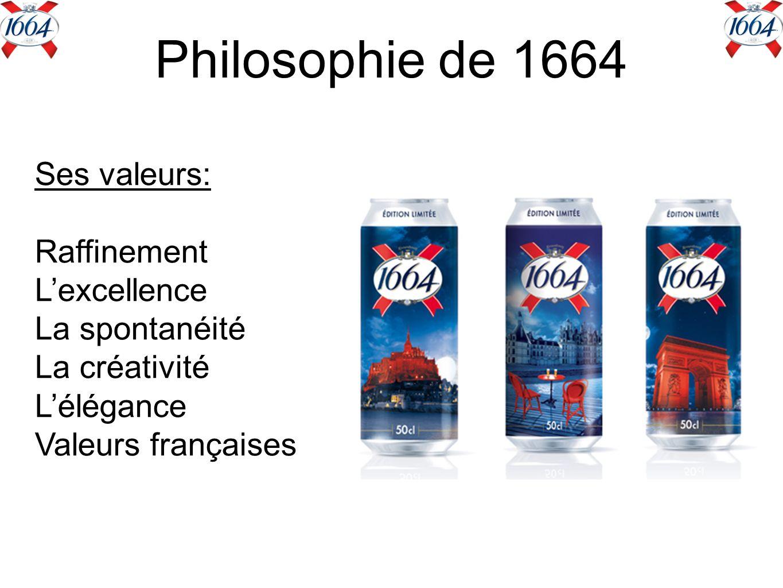Philosophie de 1664 Sa vision: « Devenir le monument de la bière française et la bière haut de gamme française de référence »