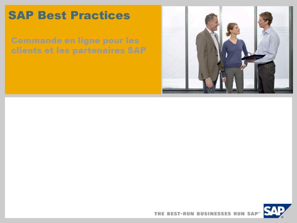 SAP Best Practices Commande en ligne pour les clients et les partenaires SAP