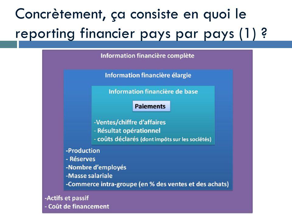 Concrètement, ça consiste en quoi le reporting financier pays par pays (1) ?