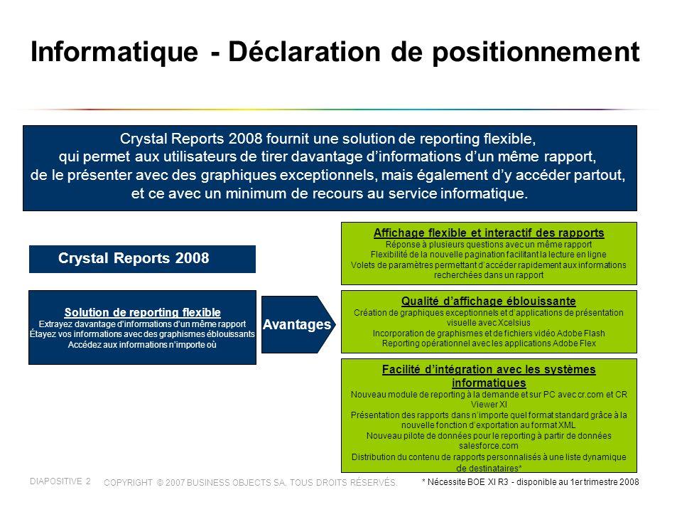 COPYRIGHT © 2007 BUSINESS OBJECTS SA.TOUS DROITS RÉSERVÉS.