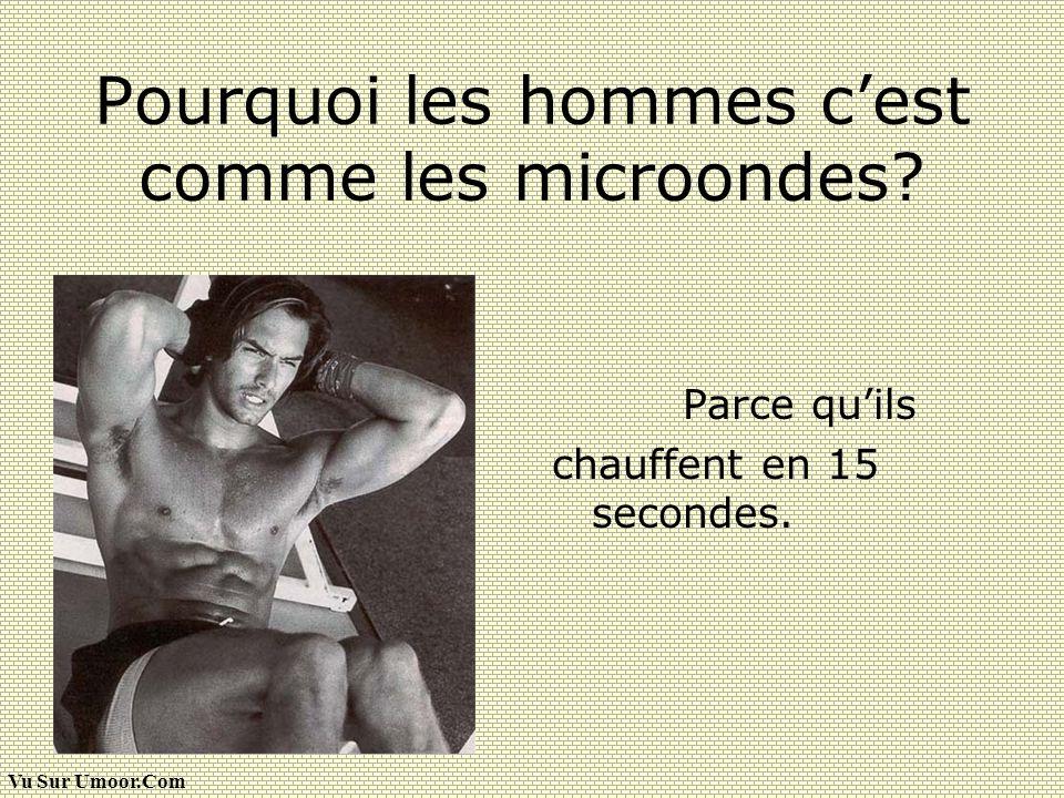 Vu Sur Umoor.Com Pourquoi les hommes cest comme les microondes? Parce quils chauffent en 15 secondes.