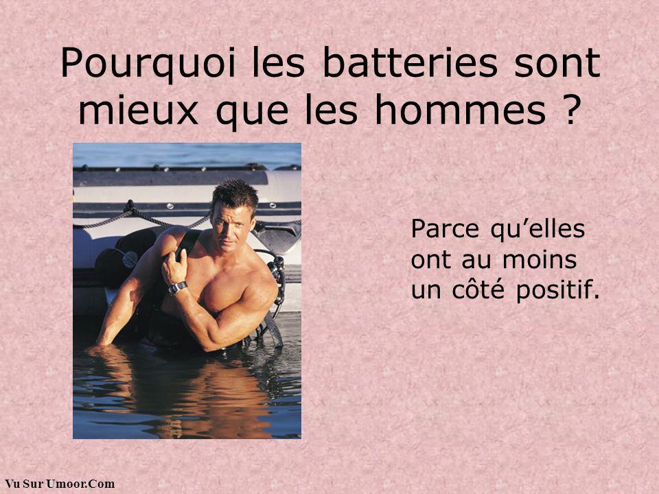 Vu Sur Umoor.Com Pourquoi les batteries sont mieux que les hommes ? Parce quelles ont au moins un côté positif.