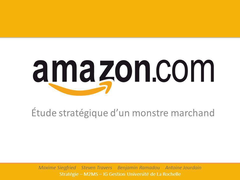 Étude stratégique dun monstre marchand Maxime Siegfried – Steven Travers – Benjamin Ramadou – Antoine Jourdain Stratégie – M2MS – IG Gestion Universit