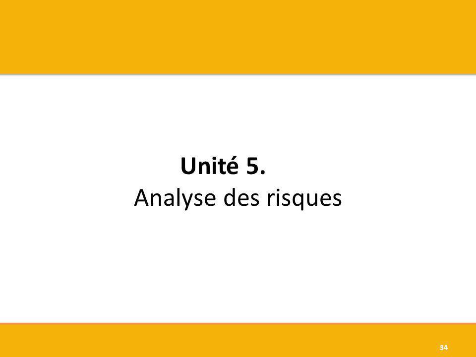 Unité 5. Analyse des risques 34