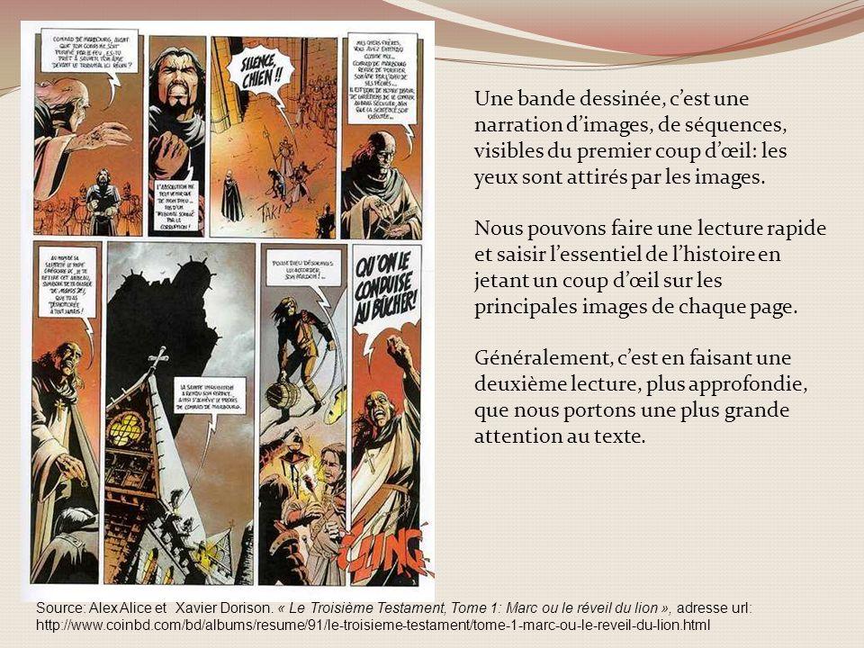 Source: Alex Alice et Xavier Dorison. « Le Troisième Testament, Tome 1: Marc ou le réveil du lion », adresse url: http://www.coinbd.com/bd/albums/resu
