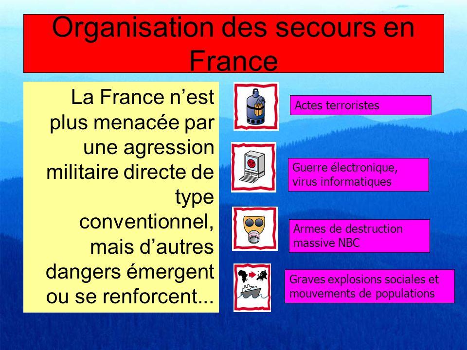 La France nest plus menacée par une agression militaire directe de type conventionnel, mais dautres dangers émergent ou se renforcent... Actes terrori