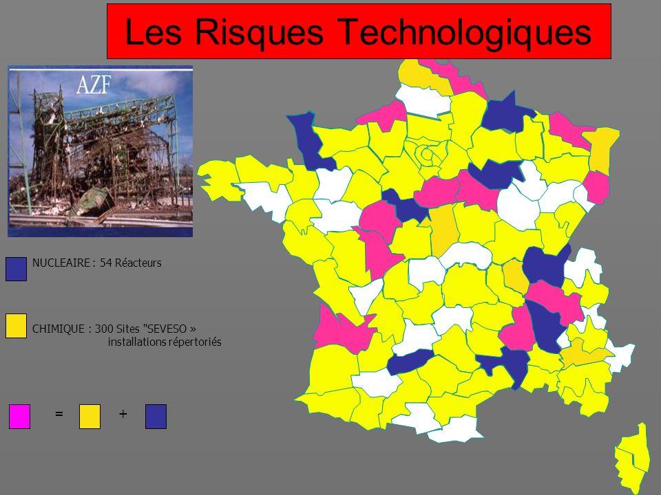 =+ NUCLEAIRE : 54 Réacteurs CHIMIQUE : 300 Sites