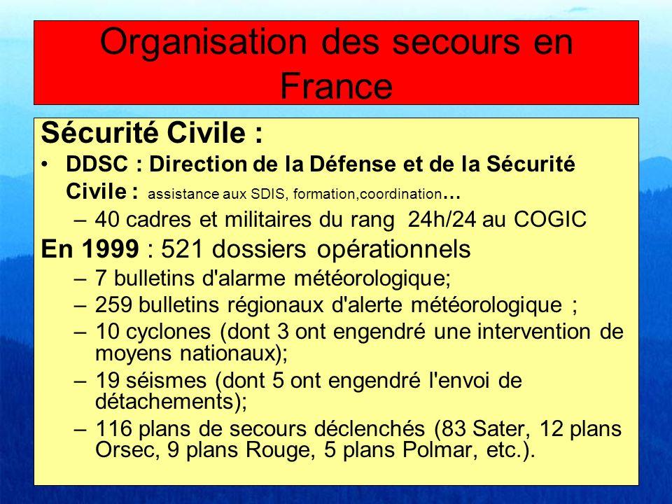 Sécurité Civile : DDSC : Direction de la Défense et de la Sécurité Civile : assistance aux SDIS, formation,coordination … –40 cadres et militaires du