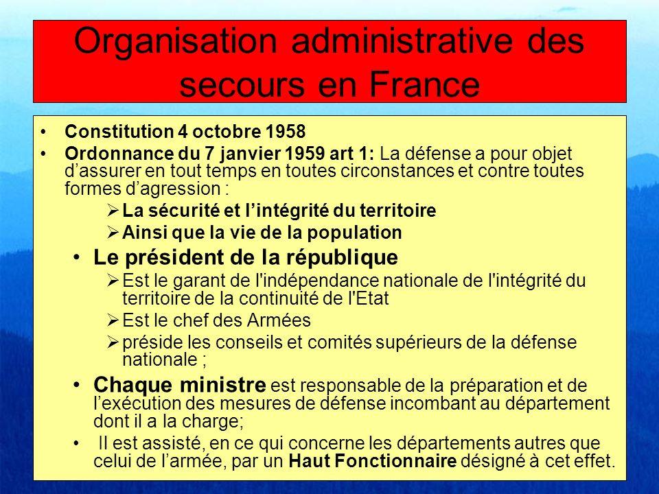 Organisation administrative des secours en France La Zone de défense