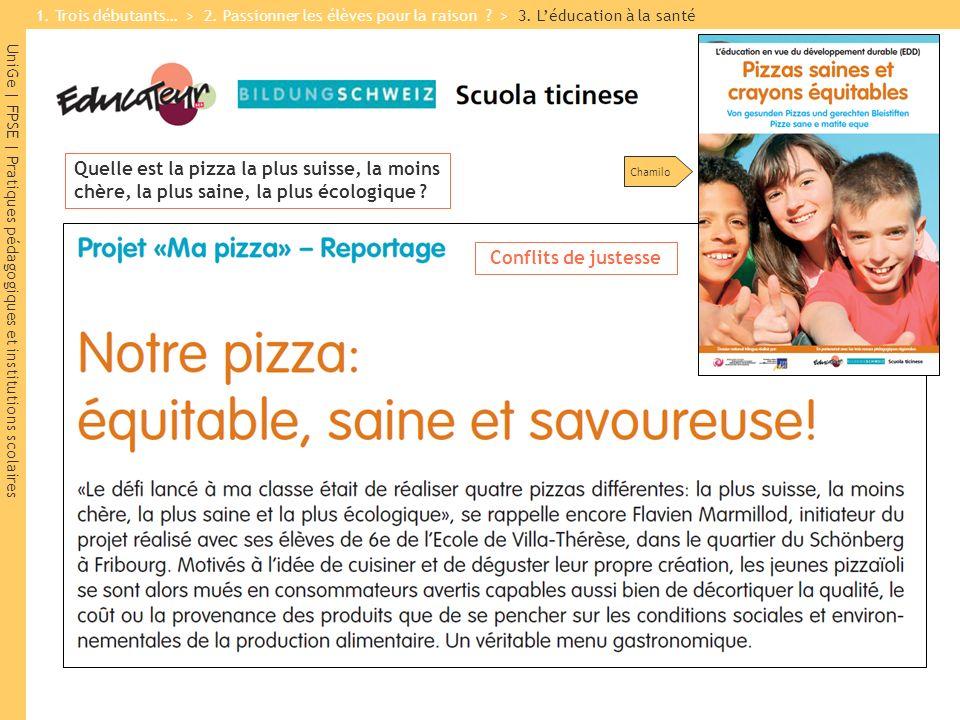 UniGe | FPSE | Pratiques pédagogiques et institutions scolaires Chamilo Quelle est la pizza la plus suisse, la moins chère, la plus saine, la plus éco
