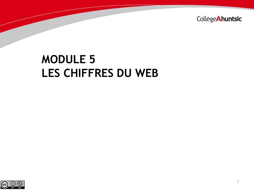 MODULE 5 LES CHIFFRES DU WEB 1