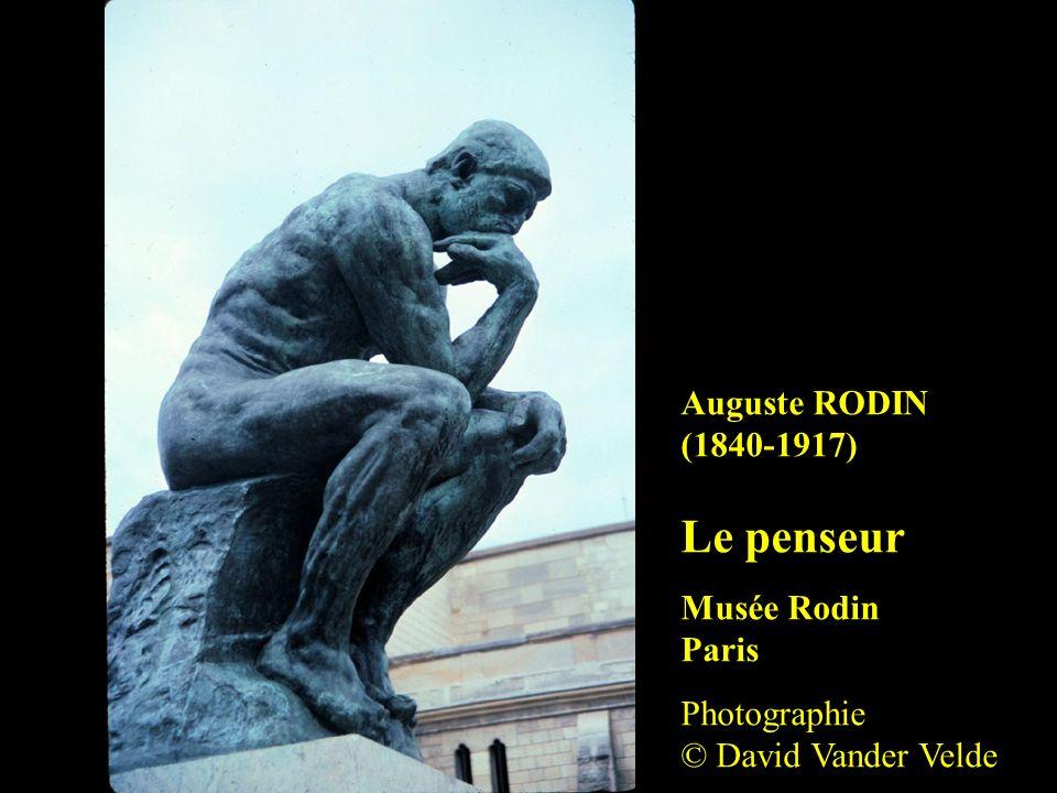 Auguste RODIN (1840-1917) Le penseur Musée Rodin Paris Photographie © David Vander Velde