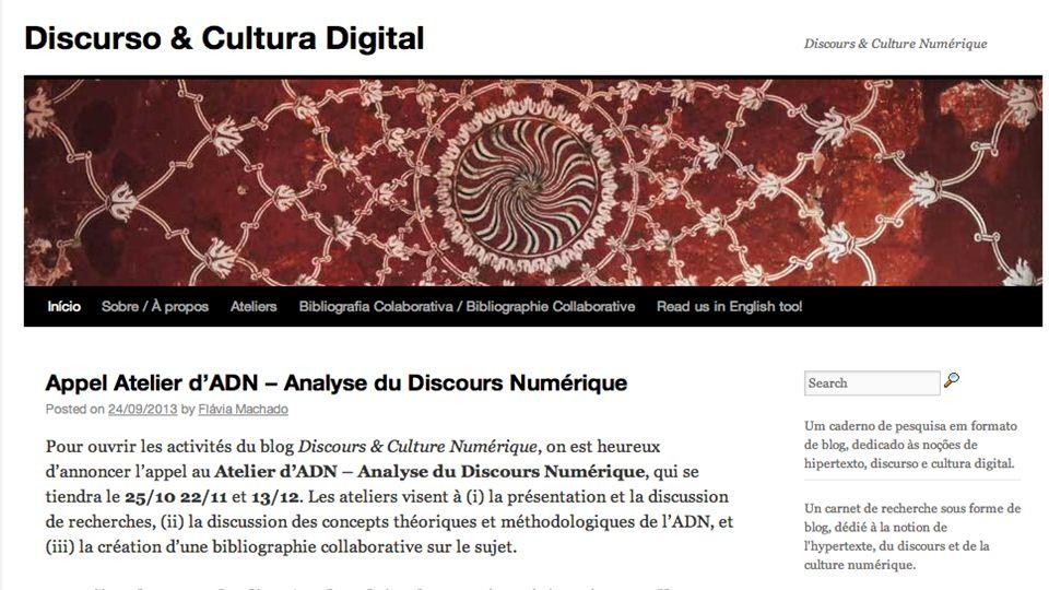 Le premier atelier: Le discourse numérique Ouverture des activités de lAtelier.