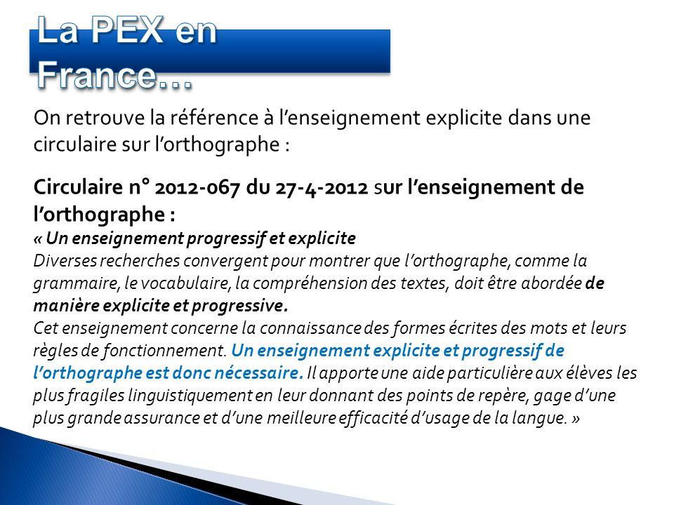 On retrouve la référence à lenseignement explicite dans une circulaire sur lorthographe : Circulaire n° 2012-067 du 27-4-2012 sur lenseignement de lor