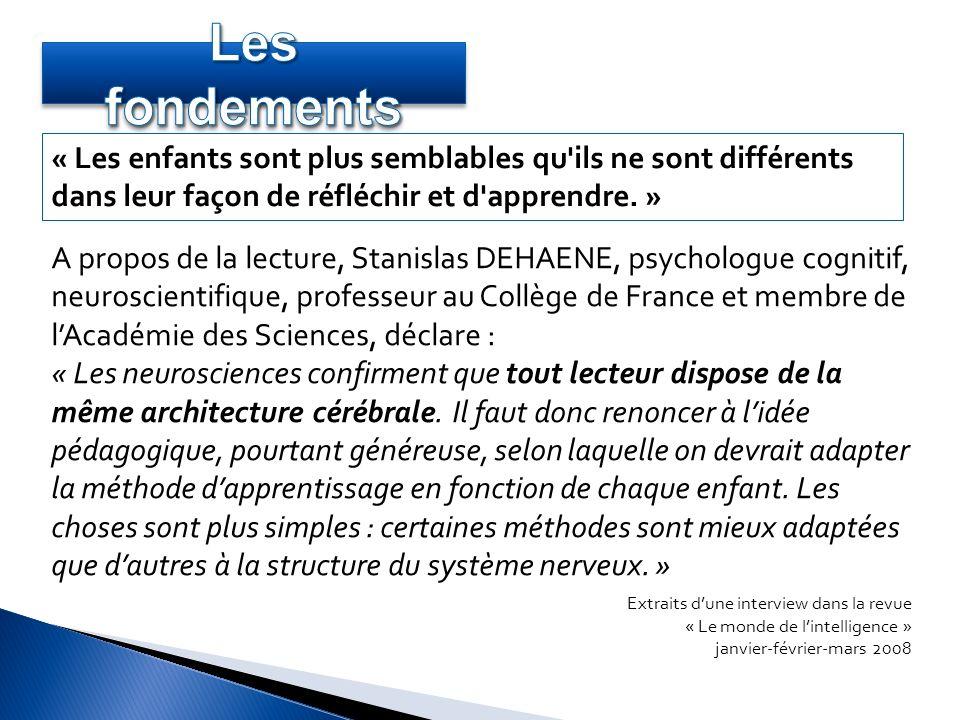A propos de la lecture, Stanislas DEHAENE, psychologue cognitif, neuroscientifique, professeur au Collège de France et membre de lAcadémie des Science