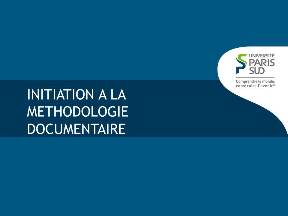 INITIATION A LA METHODOLOGIE DOCUMENTAIRE