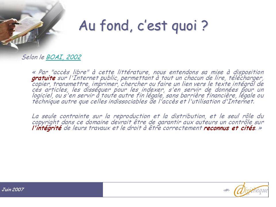 Juin 2007 # Au fond, cest quoi .