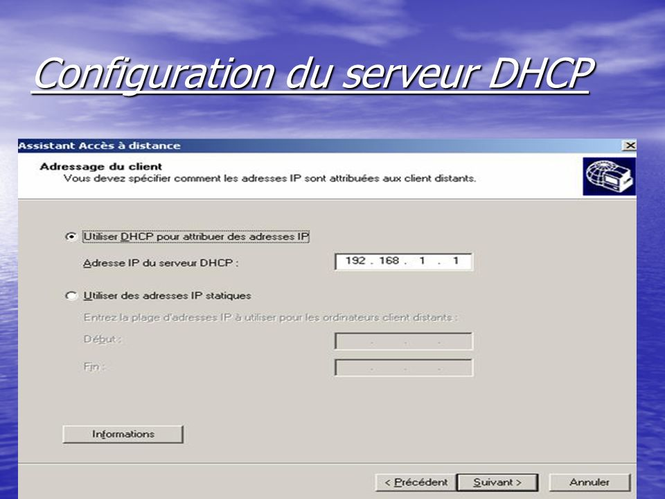ntic2.xtreemhost.com Configuration du serveur DHCP