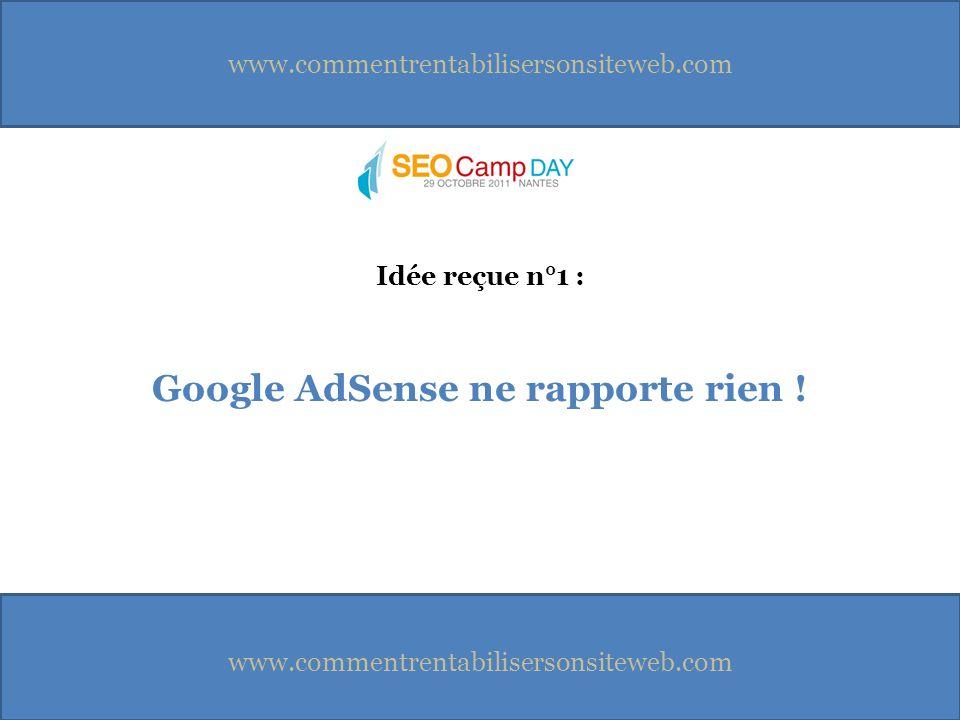 Google AdSense ne rapporte rien ! Idée reçue n°1 :