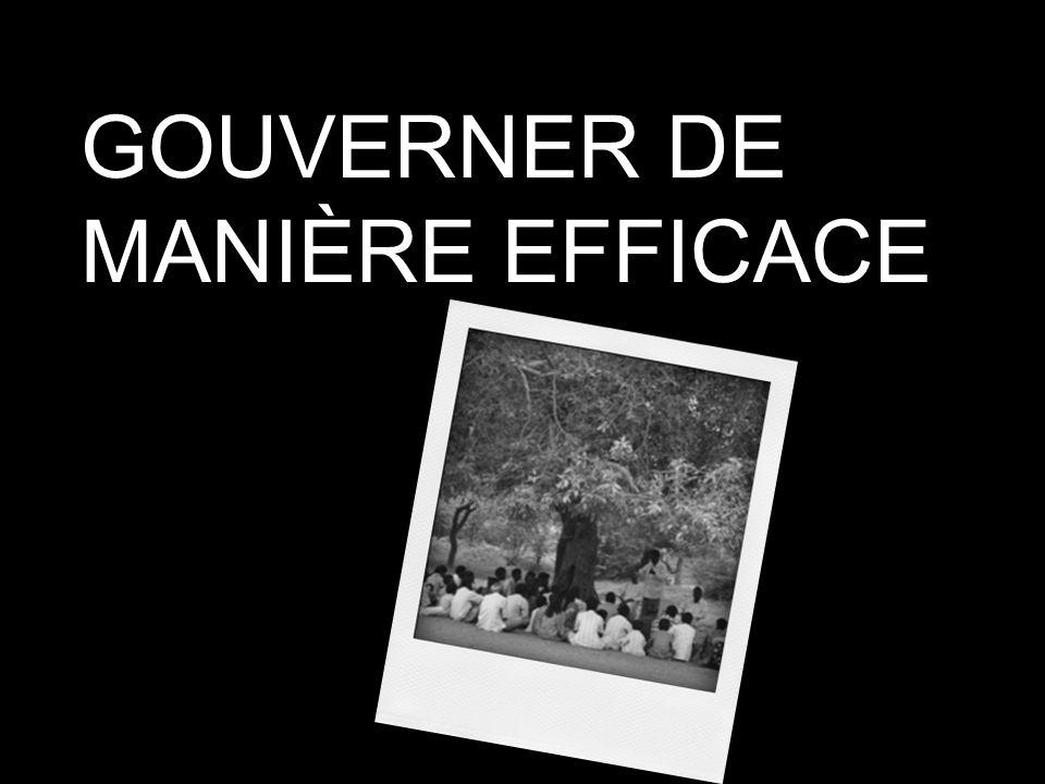 GOUVERNER DE MANIÈRE EFFICACE