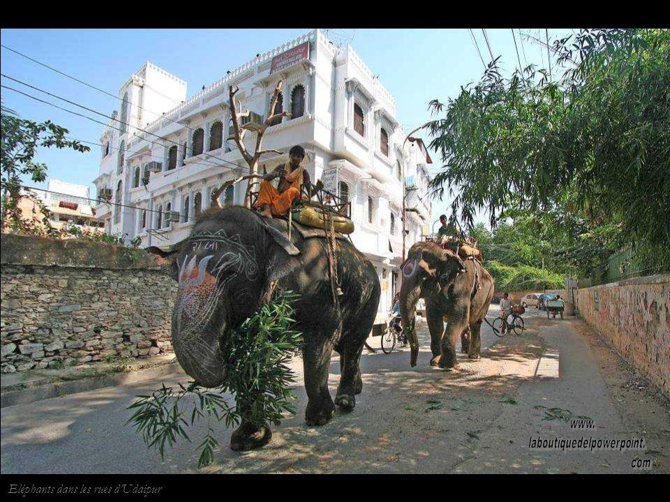 Shambhu Niwas, au bord du lac Pichola, est la résidence des descendants du maharaja.