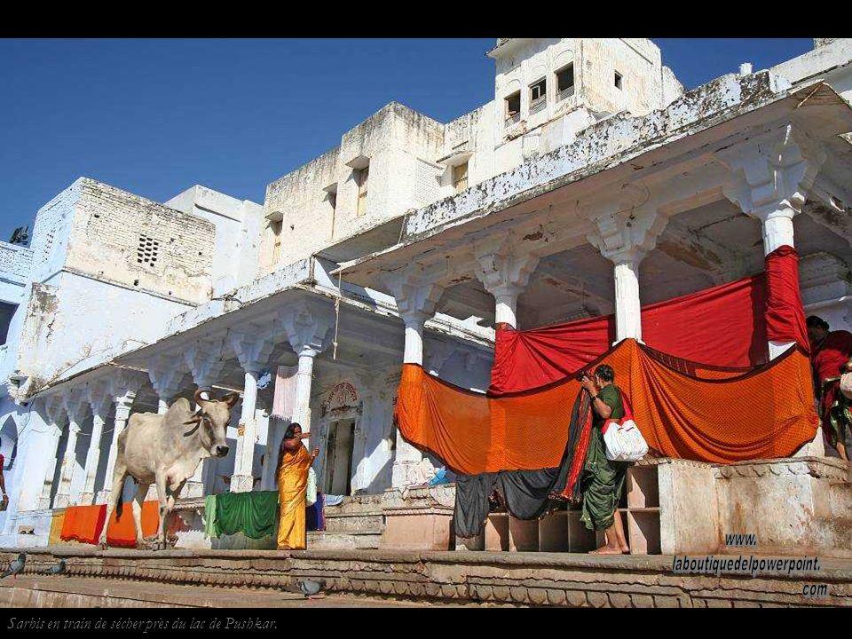 Pushkar est un des cinq lieux de pélerinage quun hindou doit faire dans sa vie. Los pélerins doivent se baigner dans son lac sacré afin dexpier leurs