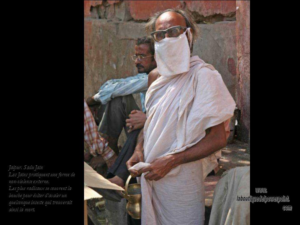 Le Palais des Vents de Jaipur. Façade de lancien harem où les femmes pouvaient oberver ce qui se passait dans la rue sans être vues.