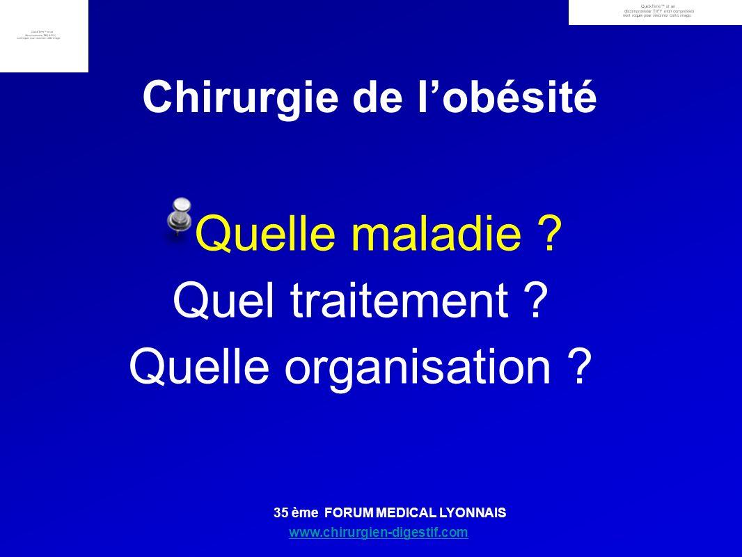 www.chirurgien-digestif.com 35 ème FORUM MEDICAL LYONNAIS Chirurgie de lobésité Quelle maladie ? Quel traitement ? Quelle organisation ?