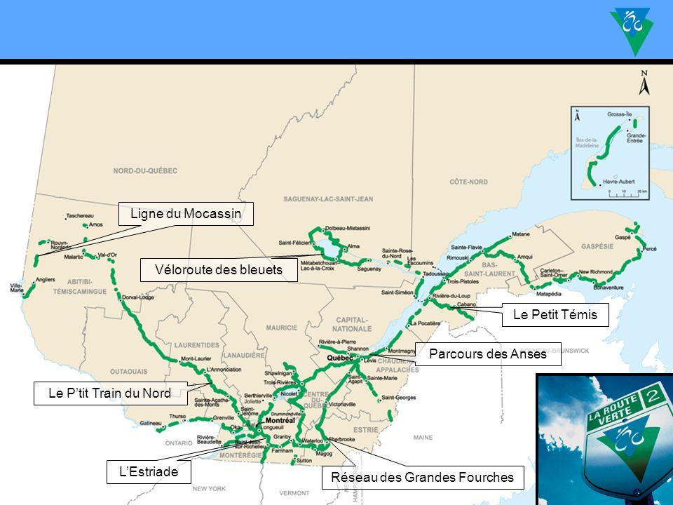 Le Ptit Train du Nord Le Petit Témis LEstriade Parcours des Anses Véloroute des bleuets Ligne du Mocassin Réseau des Grandes Fourches