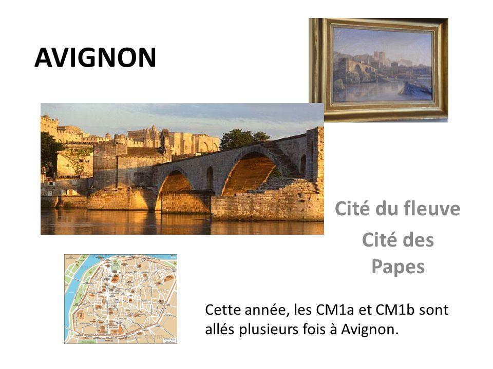 AVIGNON Cité du fleuve Cité des Papes Cette année, les CM1a et CM1b sont allés plusieurs fois à Avignon.