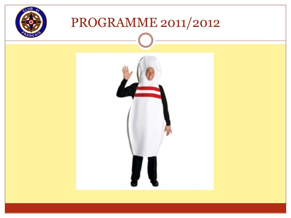 PROGRAMME 2011/2012